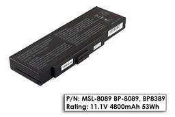 Fujitsu-Siemens Amilo K7610W laptop akkumulátor, új, gyárival megegyező minőségű helyettesítő, 6 cellás (4800mAh)