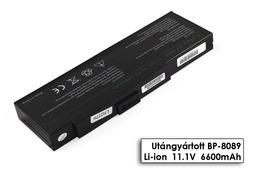 Fujitsu-Siemens Amilo K7610W laptop akkumulátor, új, gyárival megegyező minőségű helyettesítő, 9 cellás (6600mAh)
