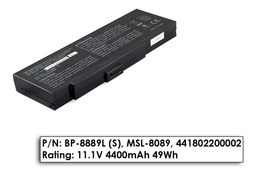 Fujitsu-Siemens Amilo K7600, BP-8889L (S) 11.1V 4400mAh használt 65%-os laptop akkumulátor