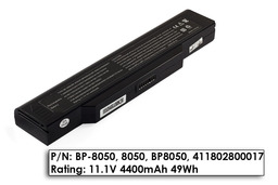 Fujitsu-Siemens Amilo L1300, L7310, L7310GW, L7310W helyettesítő új 6 cellás laptop akku/akkumulátor, BP-8050