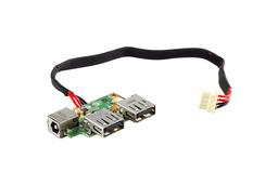Fujitsu-Siemens Amilo Pi1536 DC-jack és USB panel. 80GEP5300-B0