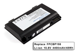 Fujitsu-Siemens LifeBook E8420e laptop akkumulátor, új, gyárival megegyező minőségű helyettesítő, 6 cellás (4400mAh)