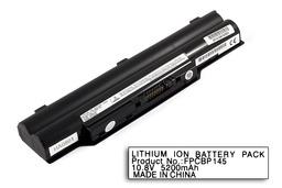 Fujitsu-Siemens LifeBook E751 laptop akkumulátor, új, gyárival megegyező minőségű helyettesítő, 6 cellás (4400mAh - 5200mAh)