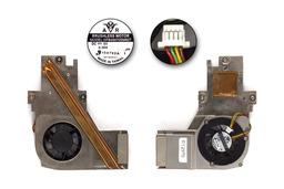 Gericom X5 használt komplett laptop hűtő ventilátor egység (DFB450705M90T)