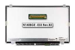 Gyári új matt 14.0'' HD (1366x768) LED laptop Slim kijelző (csatlakozó: 30 pin - jobb)