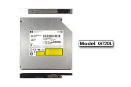 Hitachi-LG használt notebook SATA DVD Író GT20L, 12,7mm, LightScribe