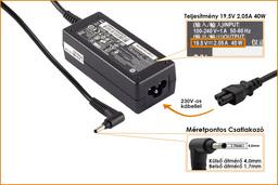 HP 19.5V 2.05A (4mm x 1.7mm) 40W gyári új laptop töltő (HSTNN-CA18)