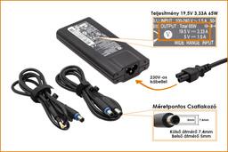 HP Pavilion DV3-2200 sorozat 19.5V 3.33A 65W-os laptop töltő