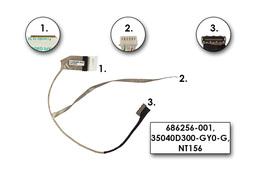 HP 2000, 650 Compaq Presario CQ58 gyári új laptop LCD kábel (686256-001, 35040D300)