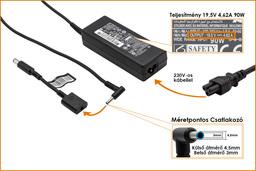 HP Compaq 19.5V 4.62A 90W center-pin, középső tüskés gyári új laptop töltő (677777-001, 693712-001)