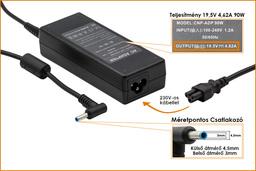 HP Compaq 19.5V 4.62A 90W vékony center-pin, középső tüskés helyettesítő laptop töltő (709986-003, 710413-001)