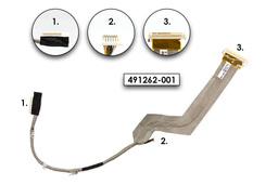 HP Compaq 6730s, 6735s, 6830s gyári új laptop LCD kábel (15'' XGA) (491587-001, 491262-001)