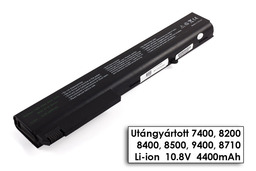 HP Compaq nx sorozat nx8220 laptop akkumulátor, új, gyárival megegyező minőségű helyettesítő, 6 cellás (4400mAh)