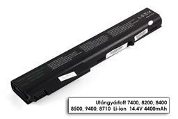HP Compaq nx sorozat nx8220 laptop akkumulátor, új, gyárival megegyező minőségű helyettesítő, 8 cellás (4400mAh)