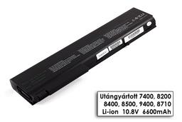 HP Compaq nx sorozat nx8220 laptop akkumulátor, új, gyárival megegyező minőségű helyettesítő, 9 cellás (6600-7800mAh)