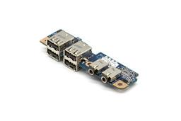 HP Compaq 8710p, 8710w használt laptop USB és audio panel (450483-001, LS-3333P)