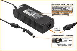 HP Compaq HSTNN-DA01 19,5V 6,9A 135W center-pin, középső tüskés használt laptop töltő