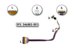HP Compaq NC6000 laptophoz használt Kijelző kábel 14.1 inch, (XGA),(344396-001)
