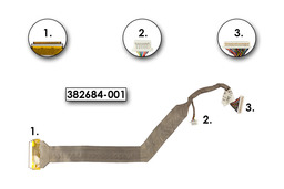 HP Compaq nc8220, nc8230 laptophoz használt Kijelző kábel (WSXGA+)(382684-001)