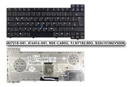 HP Compaq nc8220, nc8230, nx7400 gyári új német laptop billentyűzet (407218-041)