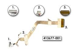 HP Compaq nx6310, nc6320 laptophoz használt Kijelző kábel, 413677-001