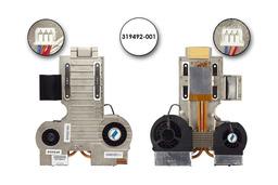 HP Compaq nx9010 használt komplett laptop hűtő ventilátor egység (319492-001)