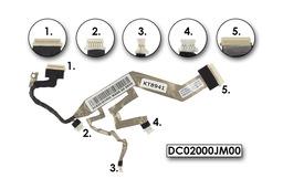 HP EliteBook 2530p gyári használt laptop kijelző LCD kábel (DC02000JM00)