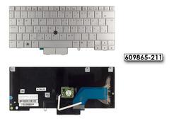 HP EliteBook 2740p gyári új ezüst magyar laptop billentyűzet (SPS 609865-211)