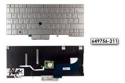 HP EliteBook 2760p gyári új ezüst magyar laptop billentyűzet (649756-211)