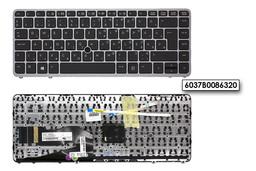 HP EliteBook 750 G2, 850 G2 gyári új magyar keretes ezüst-fekete laptop billentyűzet trackpointtal (776474-211, 736658-211)
