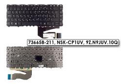 HP EliteBook 840 G1, ZBook 14 G2 gyári új magyar laptop billentyűzet trackpointtal keret nélküli (736658-211, NSK-CP1UV)