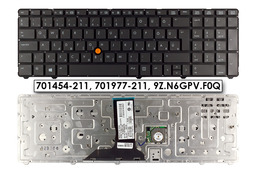 HP EliteBook 8760w, 8770w gyári új magyar laptop billentyűzet keret nélküli (701454-211, 701977-211)