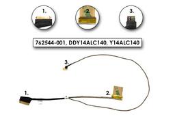 HP Envy 15-k, Pavilion 15-p gyári új laptop LCD kijelző kábel (FHD) (762544-001)