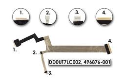 HP HDX X18, Pavilion DV8t-1000 sorozathoz gyári új laptop LCD kijelző kábel (DD0UT7LC002)