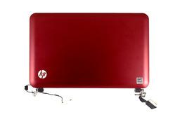 HP Mini 210 laptophoz használt komplett fedél (bordó hátlap, fekete keret, LCD kijelző, zsanérok, WiFi antenna kábellel, LCD kábel, webkamera)