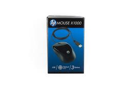 HP Mouse X1000 USB fekete optikai vezetékes egér (H2C21AA)