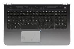 HP Pavilion 15-ab gyári új magyar fekete laptop billentyűzet, szürke felső fedéllel és touchpad-dal (809031-211)
