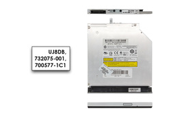 HP Pavilion 15-N000, 15-N100, 15-N200 használt laptop Slim (9,5 mm) DVD író előlappal (UJ8DB, 732075-001)