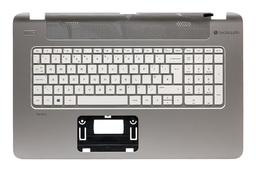 HP Pavilion 17-F, 17T-F, 17Z-F gyári új UK angol ezüst-fehér laptop billentyűzet modul (765807-031, 757411-031)