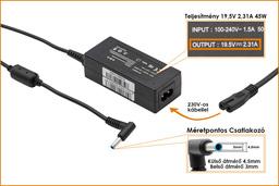 HP Pavilion 19.5V 2.31A 45W vékony center-pin (4.5mm * 3mm)  helyettesítő laptop töltő (741727-001, 740015-002)