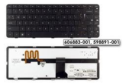 Hp Pavilion DM4-1000, DV5-2000 US angol világítós laptop billentyűzet, 606883-001, 598891-001