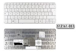 HP Pavilion DV2-1000, DV2-1100, DV2-1200 francia fehér laptop billentyűzet, 512161-051