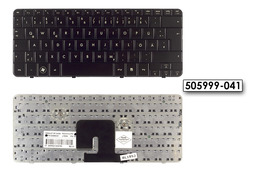 HP Pavilion DV2-1000, DV2-1100, DV2-1200 német fényes fekete laptop billentyűzet, 505999-041