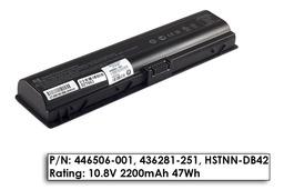 HP Pavilion dv2000, dv6000, Compaq Presario C700 használt gyári 6 cellás 95%-os laptop akku/akkumulátor (446506-001)