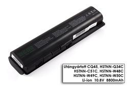 HP Pavilion dv4, dv5, dv6, Compaq CQ61 helyettesítő új 12 cellás laptop akku/akkumulátor (HSTNN-C51C)