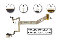 HP Pavilion dv5-1120 laptophoz használt Kijelző kábel (HUADDC14010KD417,FOXDDC6003CSD431)