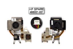 HP Pavilion DV5, DV5T, DV5-1000 használt komplett laptop hűtő ventilátor (SPS 493001-001)
