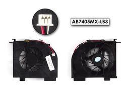 HP Pavilion DV5, DV6, DV7 gyári új laptop hűtő ventilátor (2 air out) (AB7405MX-LB3)