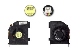 HP Pavilion DV5, DV6, DV7 gyári új laptop hűtő ventilátor (2 air out) (F8K3)