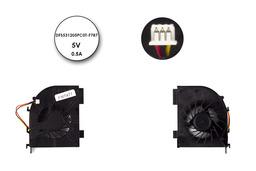 HP Pavilion DV5, DV6, DV7 használt laptop hűtő ventilátor 2 air out, (DFS531205PC0T-F787)